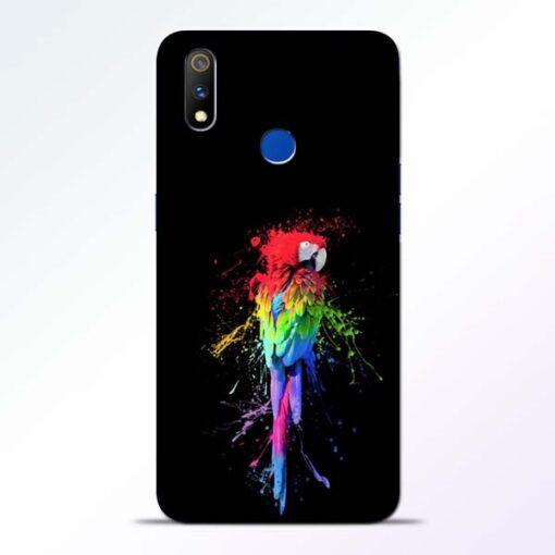 Splatter Parrot Realme 3 Pro Mobile Cover