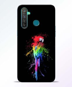 Splatter Parrot Realme 5 Pro Mobile Cover
