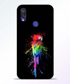Splatter Parrot Redmi Note 7 Pro Mobile Cover - CoversGap