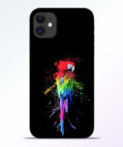 Splatter Parrot iPhone 11 Mobile Cover - CoversGap