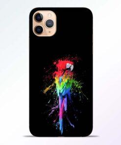 Splatter Parrot iPhone 11 Pro Mobile Cover - CoversGap