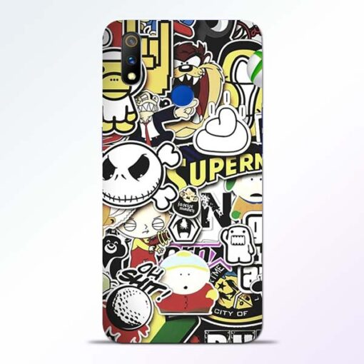 Sticker Bomb Realme 3 Pro Mobile Cover