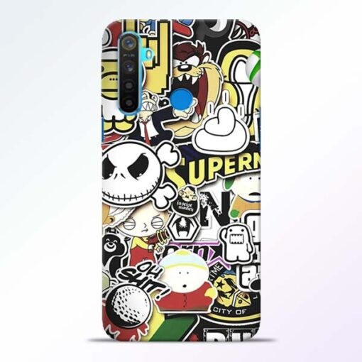 Sticker Bomb Realme 5 Mobile Cover