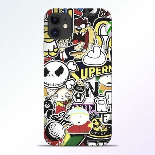 Sticker Bomb iPhone 11 Mobile Cover - CoversGap