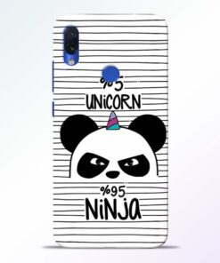Unicorn Panda Redmi Note 7s Mobile Cover - CoversGap