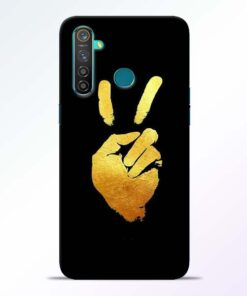 Victory Hand Realme 5 Pro Mobile Cover