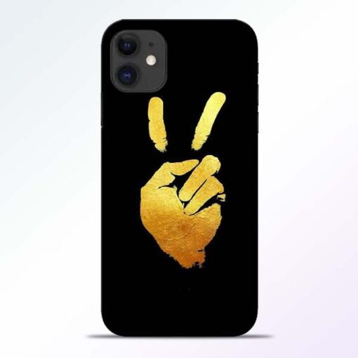 Victory Hand iPhone 11 Mobile Cover - CoversGap