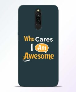 Who Cares Redmi 8 Mobile Cover