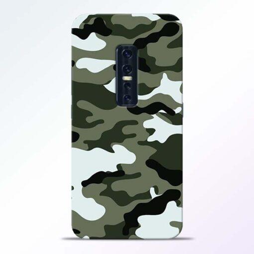 Army Camo Vivo V17 Pro Mobile Cover