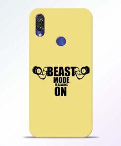 Beast Mode Redmi Note 7 Pro Mobile Cover