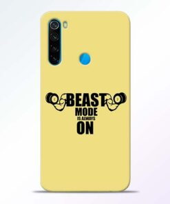 Beast Mode Redmi Note 8 Mobile Cover