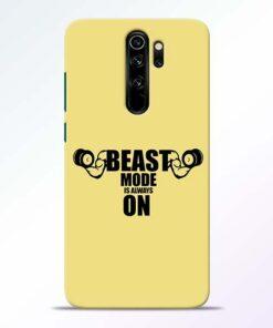 Beast Mode Redmi Note 8 Pro Mobile Cover