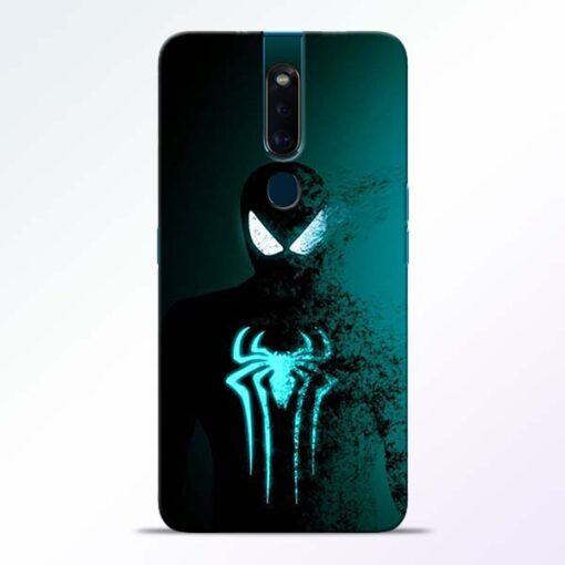 Black Spiderman Oppo F11 Pro Mobile Cover