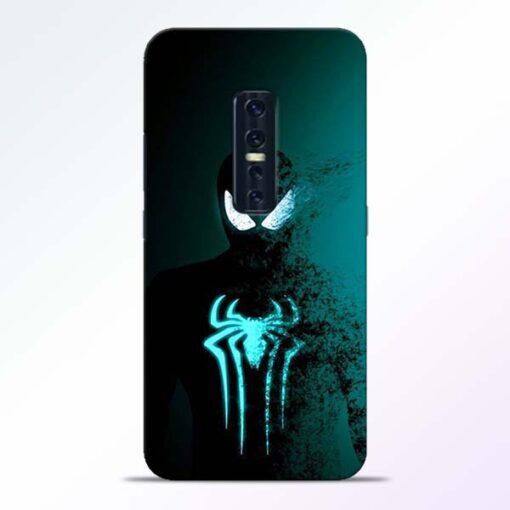 Black Spiderman Vivo V17 Pro Mobile Cover