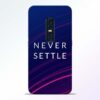 Blue Never Settle Vivo V17 Pro Mobile Cover