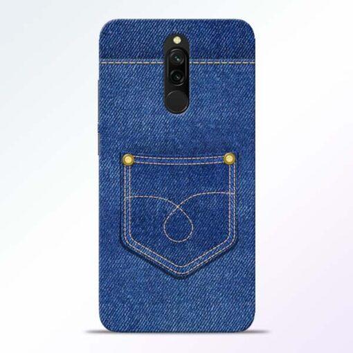 Blue Pocket Redmi 8 Mobile Cover