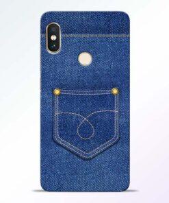 Blue Pocket Redmi Note 5 Pro Mobile Cover