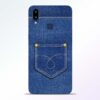 Blue Pocket Samsung Galaxy A10s Mobile Cover