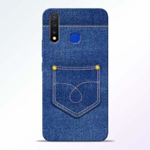 Blue Pocket Vivo U20 Mobile Cover