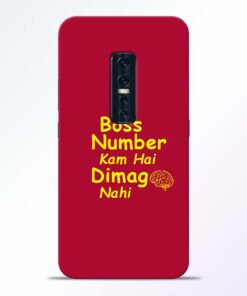 Boss Number Vivo V17 Pro Mobile Cover