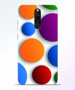 Bubble Pattern Redmi 8 Mobile Cover