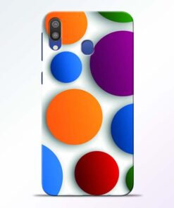 Bubble Pattern Samsung Galaxy M20 Mobile Cover