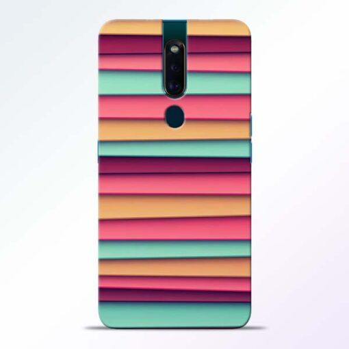 Color Stripes Oppo F11 Pro Mobile Cover