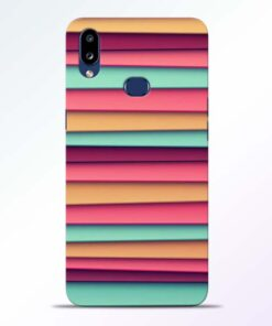 Color Stripes Samsung Galaxy A10s Mobile Cover
