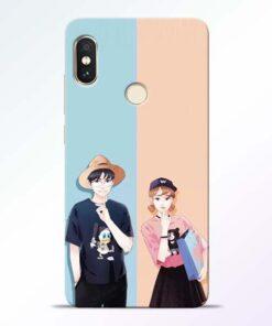 Cute Couple Redmi Note 5 Pro Mobile Cover