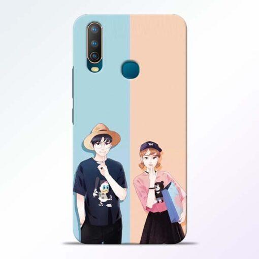 Cute Couple Vivo U10 Mobile Cover