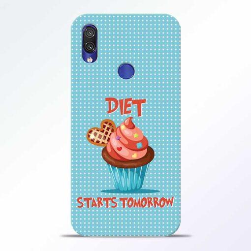 Diet Start Redmi Note 7 Pro Mobile Cover