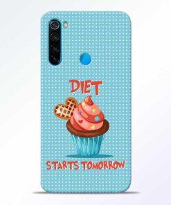 Diet Start Redmi Note 8 Mobile Cover