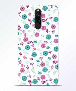 Floral Redmi 8 Mobile Cover