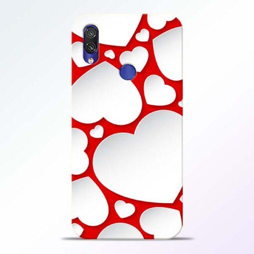 Heart Shape Redmi Note 7 Pro Mobile Cover