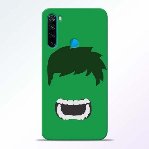 Hulk Face Redmi Note 8 Mobile Cover