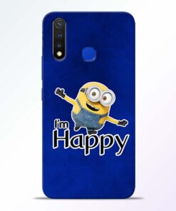 I am Happy Minion Vivo U20 Mobile Cover
