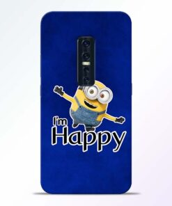 I am Happy Minion Vivo V17 Pro Mobile Cover