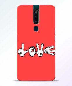 Love Symbol Oppo F11 Pro Mobile Cover