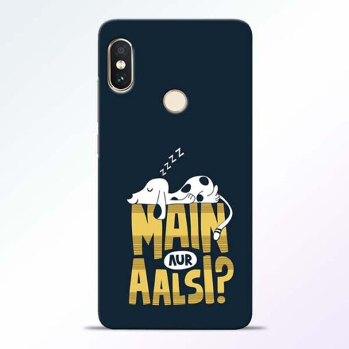 Main Aur Aalsi Redmi Note 5 Pro Mobile Cover