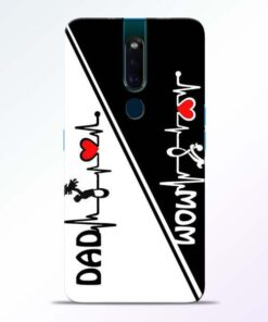 Mom Dad Oppo F11 Pro Mobile Cover