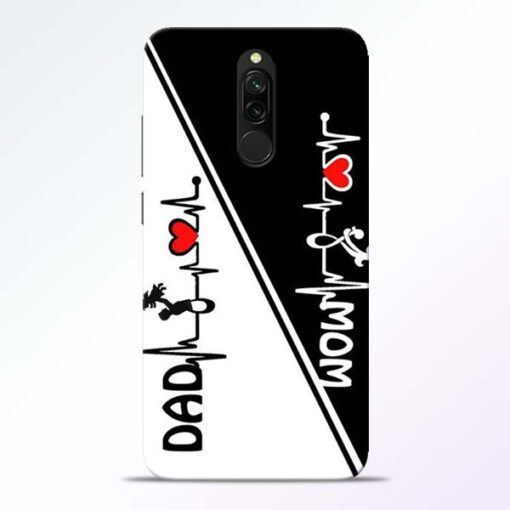 Mom Dad Redmi 8 Mobile Cover