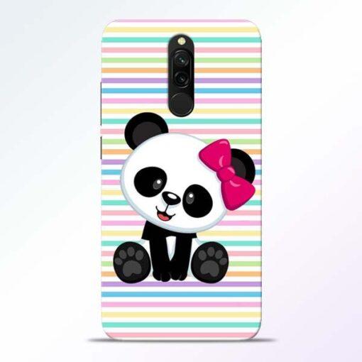 Panda Girl Redmi 8 Mobile Cover