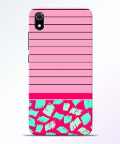 Pink Stripes Redmi 7A Mobile Cover