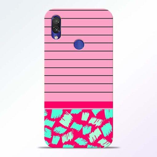 Pink Stripes Redmi Note 7 Pro Mobile Cover