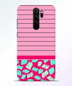 Pink Stripes Redmi Note 8 Pro Mobile Cover