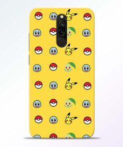 Pokemon Art Redmi 8 Mobile Cover