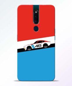 Racing Car Oppo F11 Pro Mobile Cover