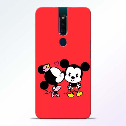 Red Cute Mouse Oppo F11 Pro Mobile Cover