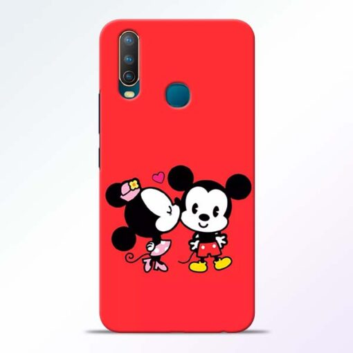 Red Cute Mouse Vivo U10 Mobile Cover