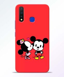 Red Cute Mouse Vivo U20 Mobile Cover